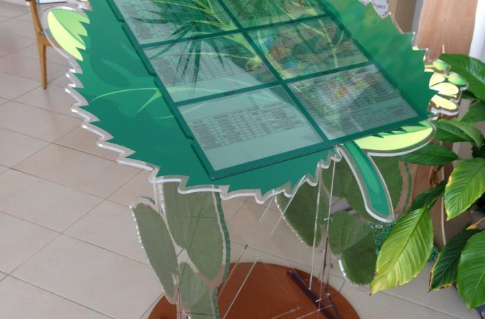 Pupitre en altuglas poli avec décor imprimé