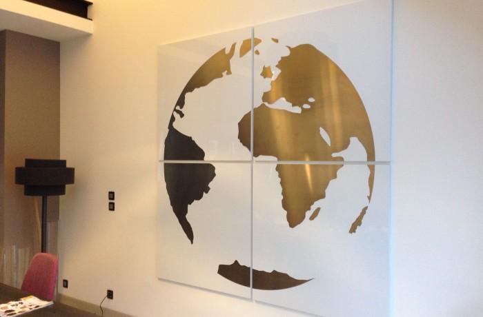 décor intèrieur Map monde